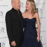 Emily Blunt chatted with Bruce Willis.