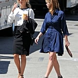 Kate Hudson and Ashley Greene hit the set of Wish I Was Here.