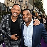 Will Smith and Alfonso Ribeiro at the Aladdin Movie Premiere
