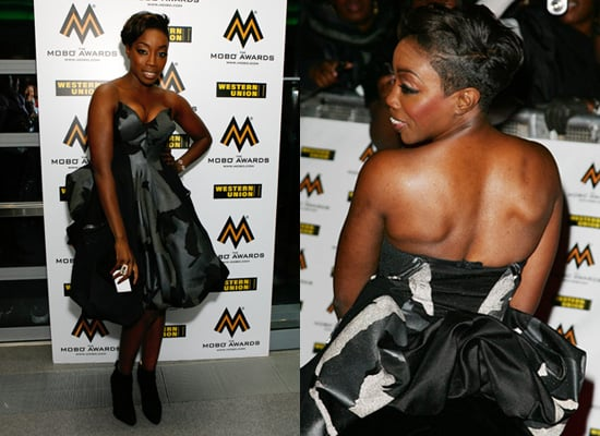 Estelle at the 2008 Mobo Awards, red carpet,