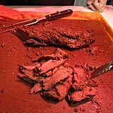 Bajans love their beef: Sliced filet mignon was a crowd pleaser.