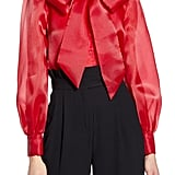 Halogen® x Atlantic-Pacific Bow Collar Blouse
