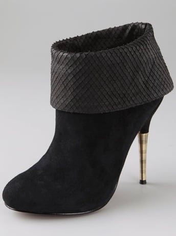 Elizabeth and James Rizzo Suede Cuff Booties