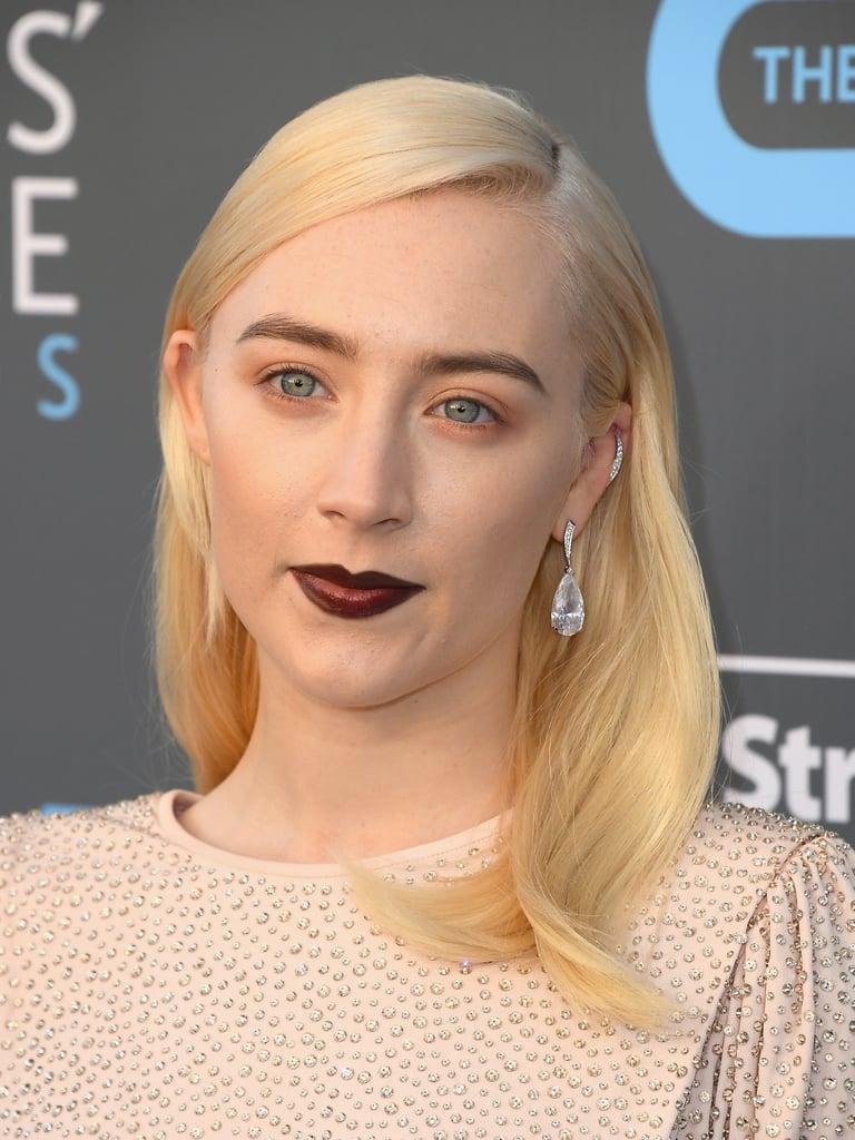 Saoirse Ronan in Dark Red Lipstick at the Critics' Choice Awards
