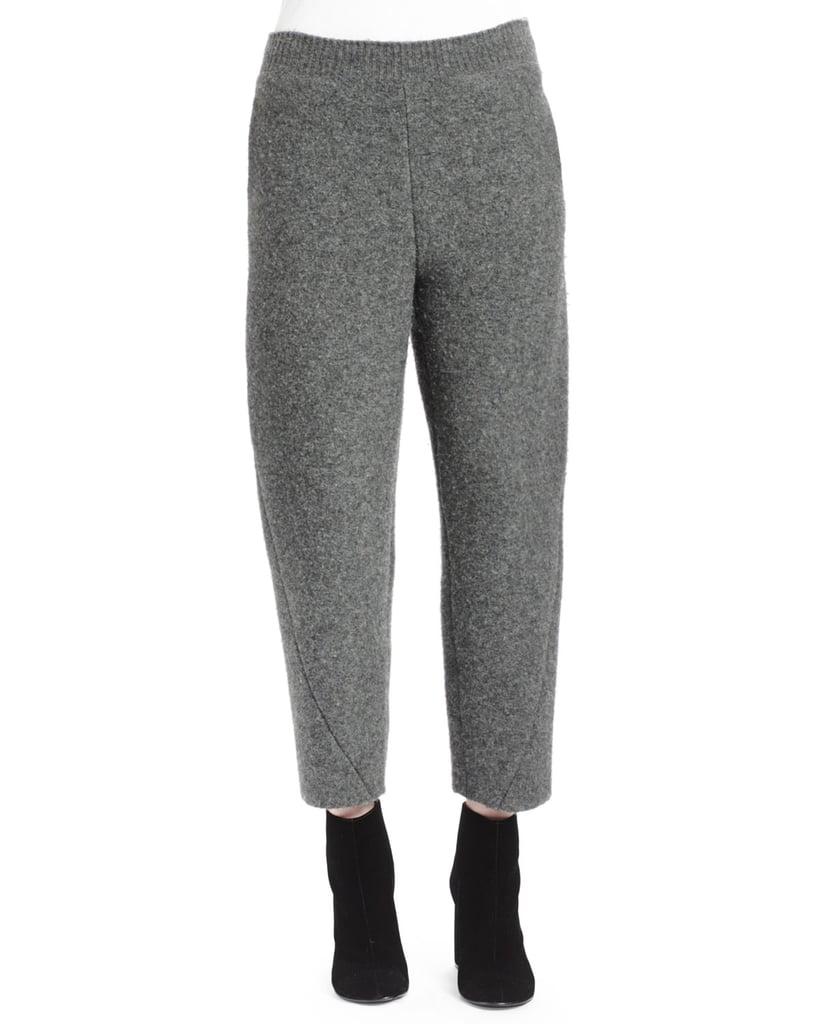 Stella McCartney Melange-Knit Wide-Leg Ankle Pants ($940)