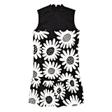 Black Daisy Drop Waist Scallop Trim Dress ($40)