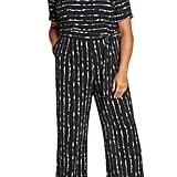 Vince Camuto Impressions Stripe Belted Jumpsuit