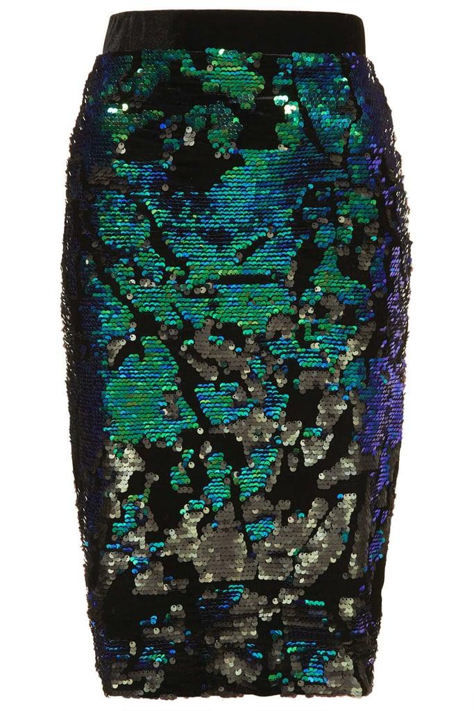 Topshop Velvet Sequin Pencil Skirt ($84)