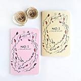 No. 1 Mom Hand Lettered Floral Notebook Journal