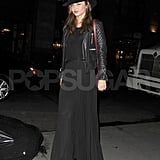 Miranda Kerr made her way to a dinner date with her husband.