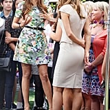 Nina Dobrev chatted with Extra host Maria Menounos.