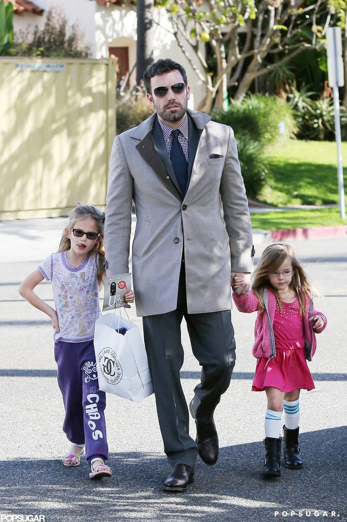 Ben Affleck held hands with daughters Violet and Seraphina after doing some shopping at Williams-Sonoma in LA on Saturday. Ben is closing out a landmark 2012, which saw him earning more critical acclaim than ever as a director for Argo. Some fans are so impressed with his work both on screen and with his work in DC that they're cheering for him to take on a real role in politics. Ben deflected questions about running for senate if John Kerry becomes secretary of state, but he wouldn't be the first actor to take on a public office. For now, though, he's focused on spending the holidays with his family at home in California. It will be Samuel Affleck's first Christmas, and it's sure to be an adorable one for your favorite celebrity family of 2012.