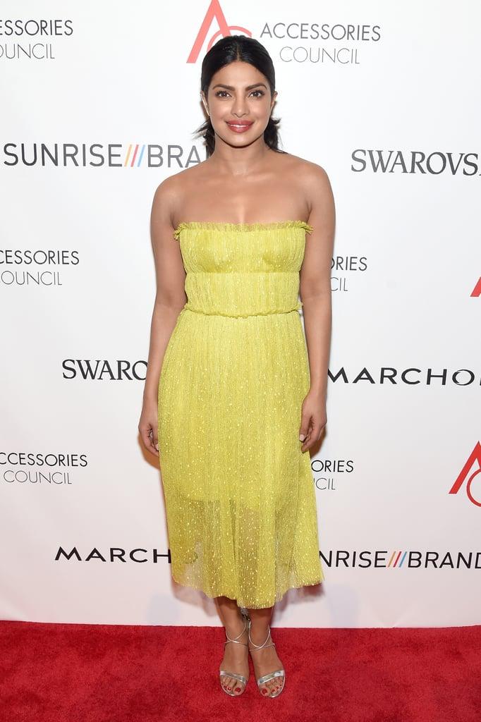 Priyanka Chopra's Yellow Dress at the ACE Awards 2016