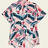 Shein Tropical & Floral Print Hawaiian Shirt