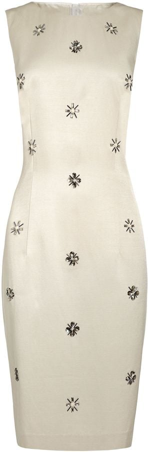 Next champagne jewel embellished shift dress (£65)