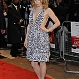 Rachel chose a revealing, printed Suno dress at the London premiere of Morning Glory.