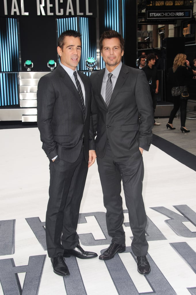 Colin Farrell and Len Wiseman both looked dapper in their suits.