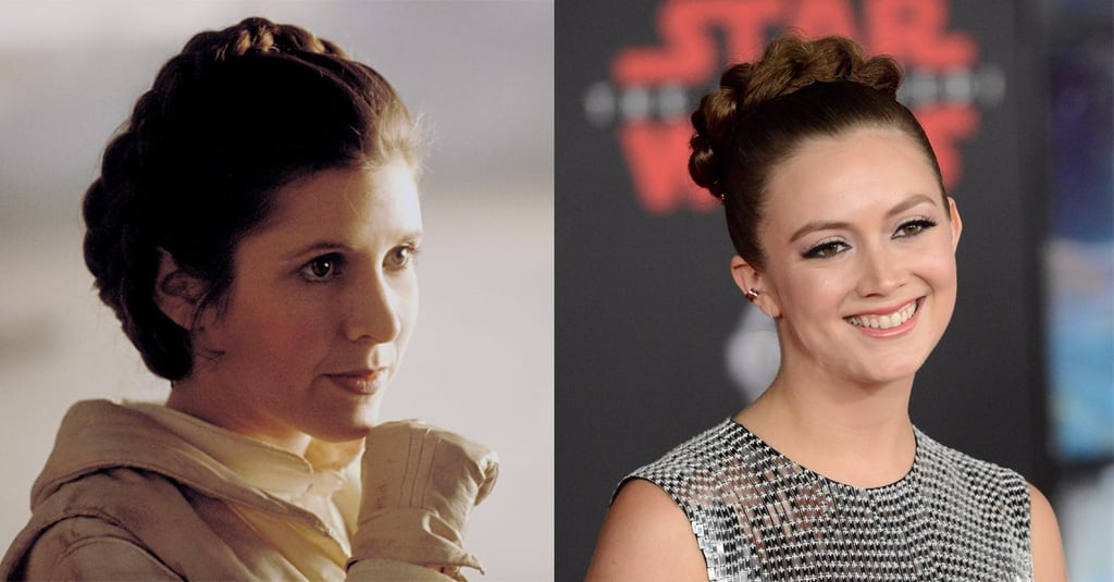 Billie Lourd Honoured Carrie Fisher at the Star Wars Premiere With a Princess Leia Updo
