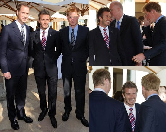 Pictures of David Beckham, Prince William, And Prince Harry Together in South Africa During The World Cup
