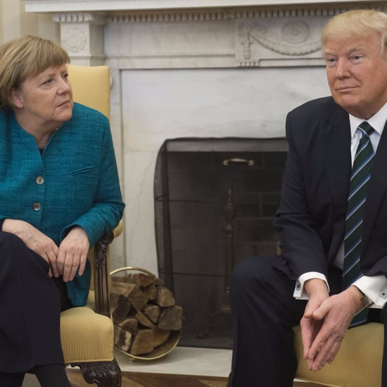 Donald Trump and Angela Merkel Handshake Memes