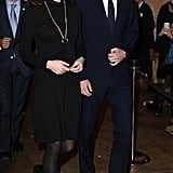 The Duchess Dressed For the Chill at the GREAT Reception in NYC Wearing a Seraphine Turtleneck Dress