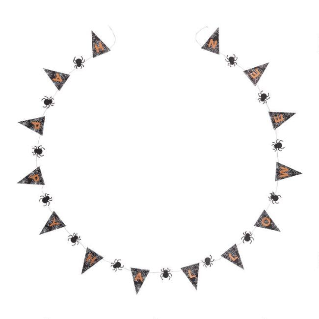 Spider and Pennant Halloween Paper Garland