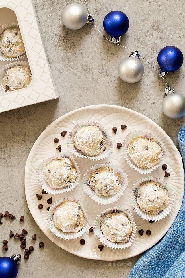 Sagittarius: Chocolate Chip Snowball Cookies
