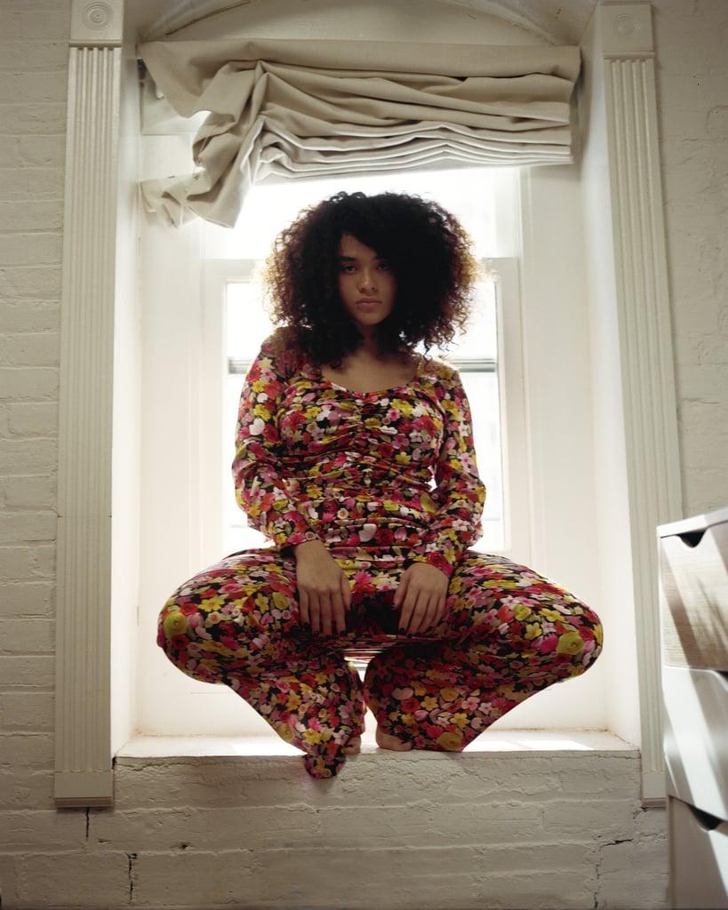 Ganni Silk Stretch Satin Mini Dress (£425) and Ganni Silk Stretch Elasticised Pants (£295)