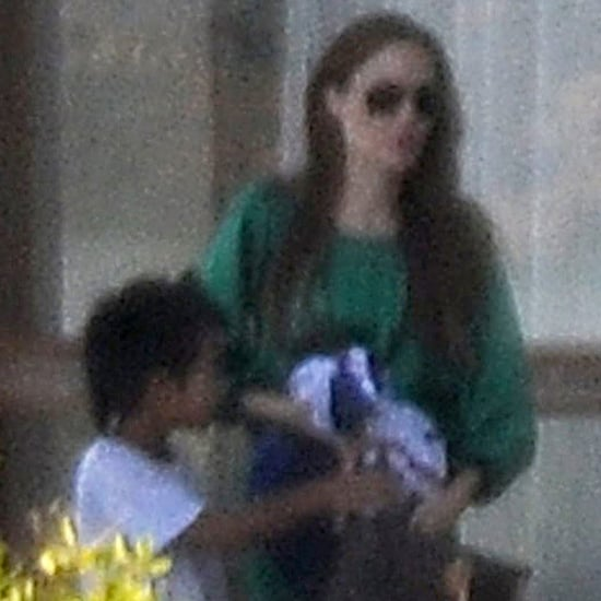 Pictures of Angelina Jolie and Maddox in Scotland