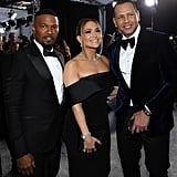 Jamie Foxx, Jennifer Lopez, and Alex Rodriguez at the 2020 SAG Awards
