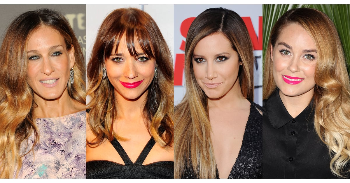Pictures Of Celebrity Ombre Hairstyles Popsugar Beauty