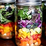 Rainbow Mixed Mason Jar