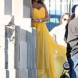 Jennifer Hudson in yellow dress.