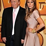 Donald and Melania Trump posed for photos before the screening.