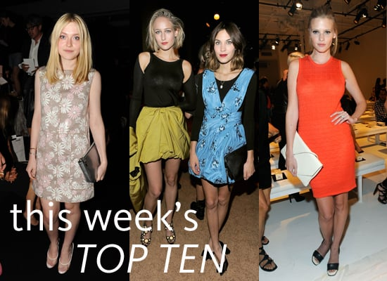 FabSugar's Top Ten Best Dressed From the Front Row at S/S 2012 New York Fashion Week Olivia Palermo, Rachel Zoe, Zoe Saldana
