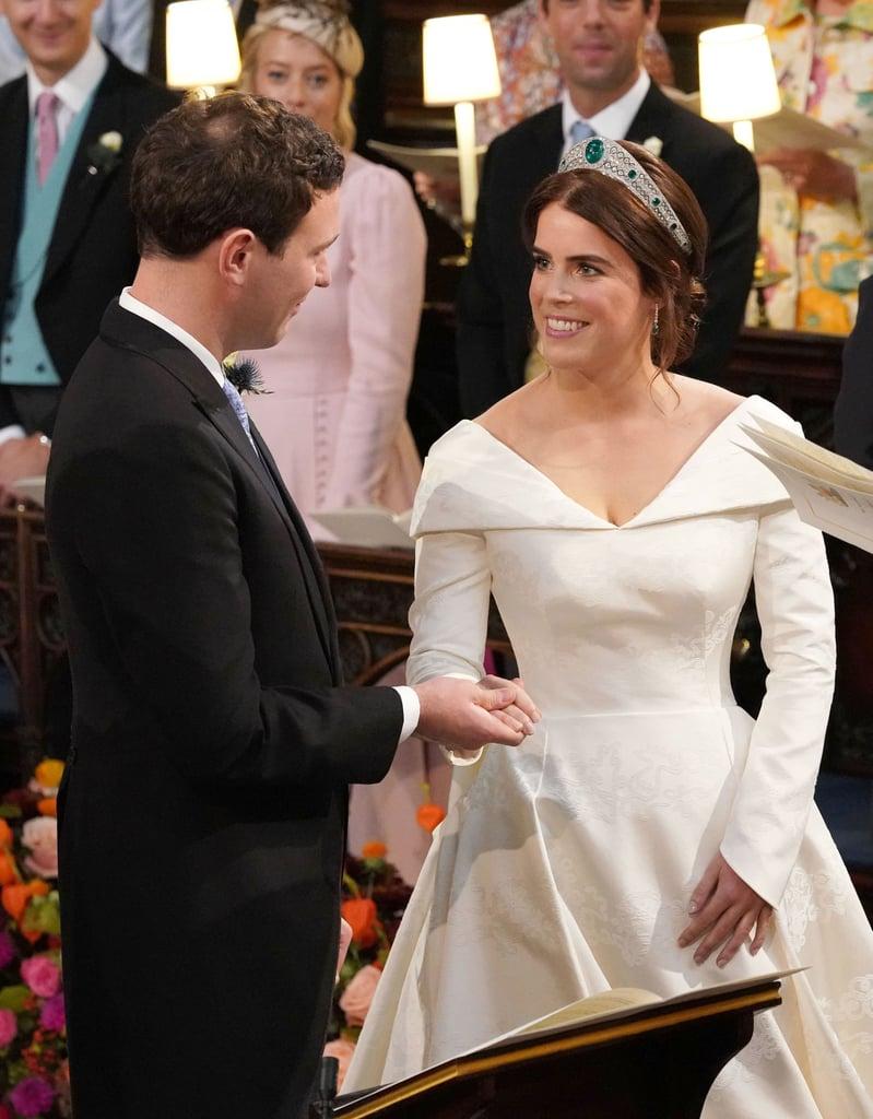 Jack Brooksbank Putting on Princess Eugenie's Wedding Band