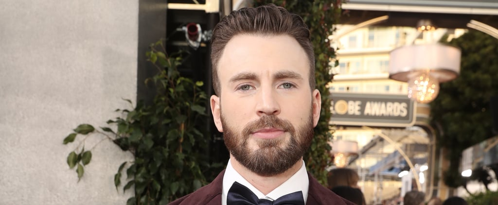 Chris Evans at the Golden Globes 2020