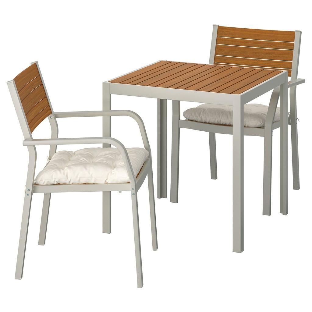 Själland table and two armchairs
