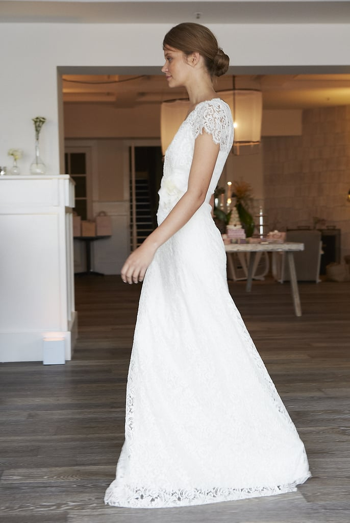 French Lace And Dainty Capped Sleeves Lent A Romantic Vintage Feel