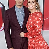 Leighton supported Adam at the premiere of his film Shazam! in March 2019.