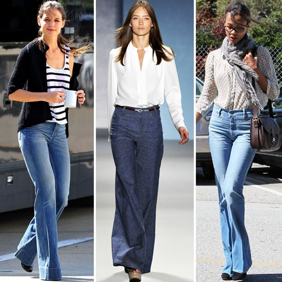 Celebrities In Flared Jeans Popsugar Fashion