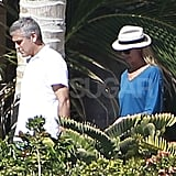 Stacy Keibler joined George Clooney in Cabo.