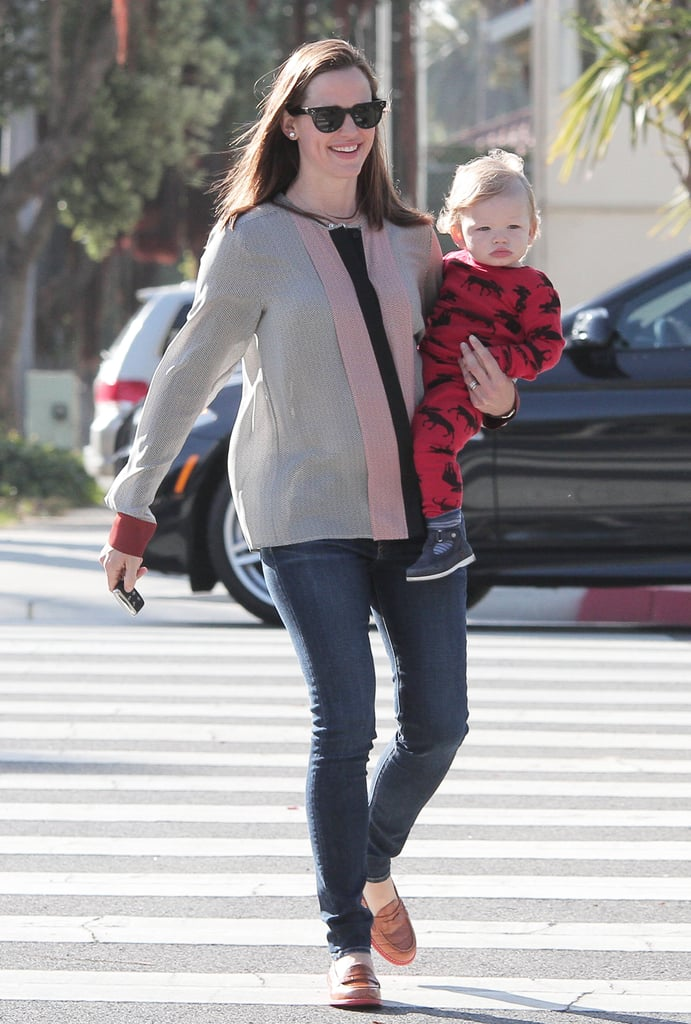 Jennifer Garner spent her Friday in LA with Samuel.