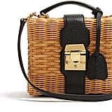 You never thought a wicker basket could look this covetable, but Mark Cross's rattan and leather cross-body bag ($1,786) is the ultimate take on the trend.