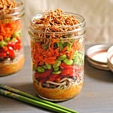 Asian Noodle Salad Jars With Spicy Peanut Butter Dressing