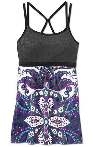 I'm loving the black bust of this Empire Cami ($59). Plus that intricate peacock-inspired print on the bottom? I'm sold.