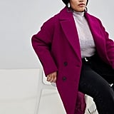 ASOS DESIGN Curve Double Breasted Coat
