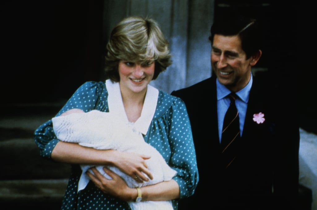 The proud parents left the hospital with their firstborn son, William, in 1982.