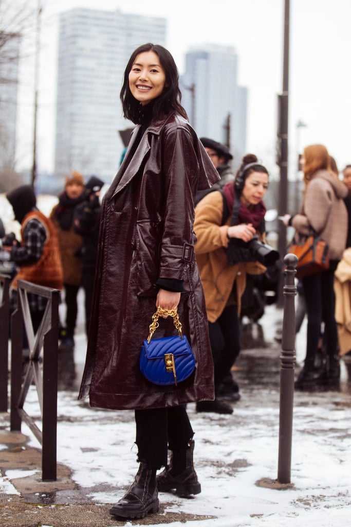 Waxed Trench + Boots + a Mini Bag