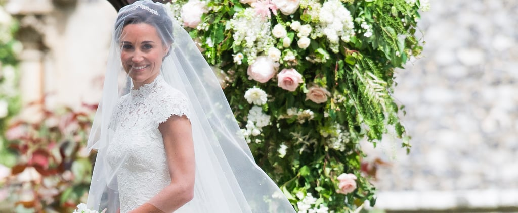 Pippa Middleton's Wedding Dress Is a High-Necked, Cap-Sleeved Dream